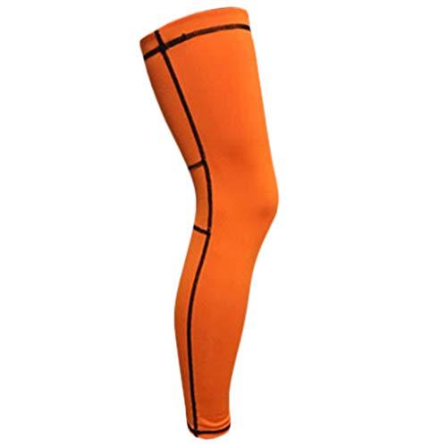 VVXXMO Manga de compresión de pierna,Protector elástico de la rodilla de la pantorrilla del muslo del apoyo del abrigo,Running Basketball Football Sports
