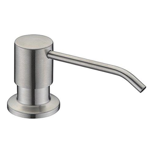 Soap Dispenser, WENKEN Stainless Steel Built in Pump Kitchen Soap Dispenser, Large Capacity 17 OZ Bottle, Soap Dispenser for Kitchen Sink, Brushed Nickel