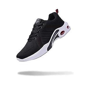 [WULAKESI] ランニングシューズ スニーカー エアクッション ウォーキングシューズ ジョギング クッション 運動靴 防滑 軽量 通気 レッド 26.5cm