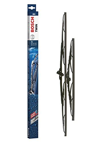 Bosch Twin Escobilla limpiaparabrisas 653, Longitud: 650 mm/400 mm – 1 juego para el parabrisas (frontal)