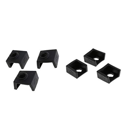 IPOTCH 6X Calcetines de Silicona de Protección Térmica para CR-10,10S, S4, S5, Ender 3