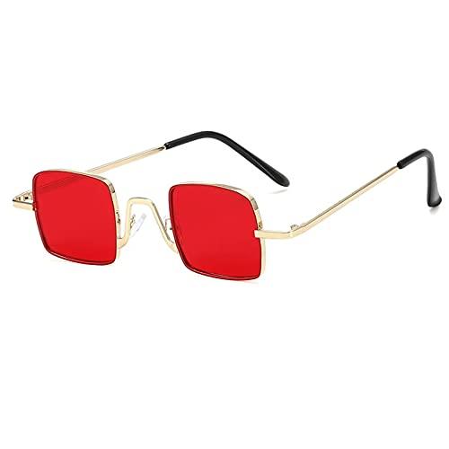 HHAA Gafas De Sol Cuadradas De Metal para Niños, Gafas De Sol Clásicas Retro Personalizadas para Niñas, Gafas Uv400 para Niños Y Niñas, Gafas De Moda