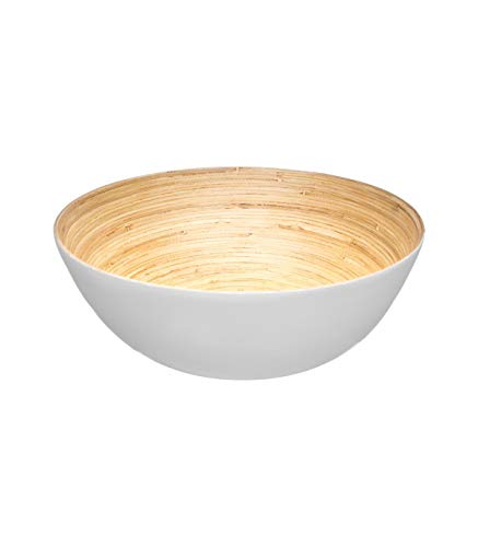 Secret de gourmet Saladier Bambou Blanc 25 cm