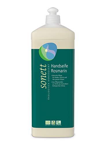 Handseife Rosmarin: Basische Pflege für Hände, Gesicht und den ganzen Körper, 1 l