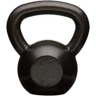 Darci Black Strength Training Kettlebell, Fitness Kettlebell, Cross-Training Kettlebell, Solid Cast...