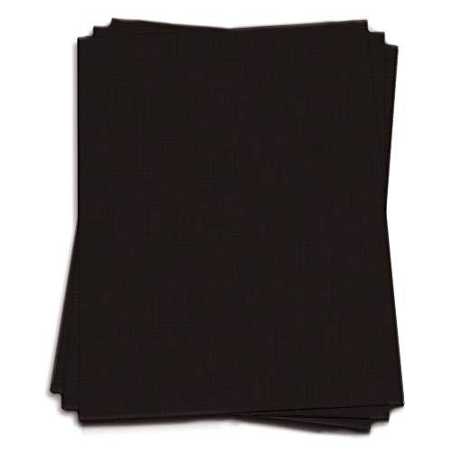 Black Double Thick - 12 x 12 LCI Linen 130lb Cover, 25 Pack