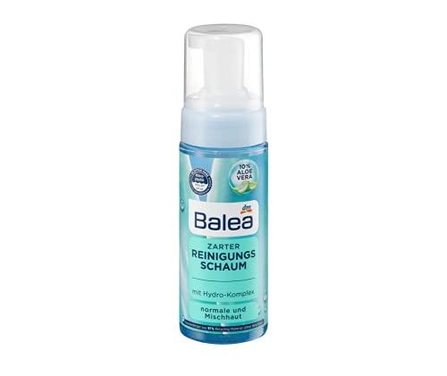 Zarter Reinigungsschaum Mit 10% Aloe Vera und Hydro-Komplex   Für eine Gründliche und schonende Reinigung   Für Normale und Mischhaut   150 ml