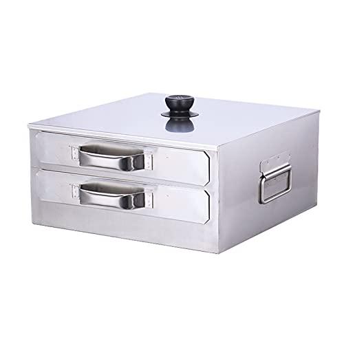 DBMGB Multifunción Vaporizador De Rollo De Fideos De Arroz, Vapor de Alimentos de Cocina Apto para Cocina de Inducción y Estufa de Gas, Tapa Removible, 1 Capas/2 Capas