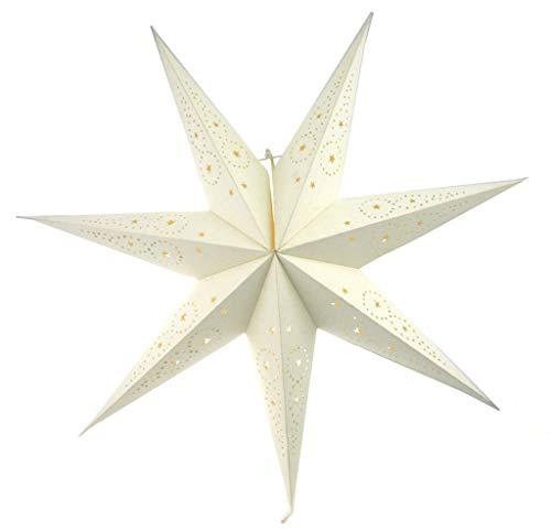 Adventsstjärna Vit pappstjärna 74 cm