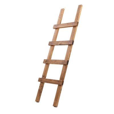 Uncle Joe agnos decoratieve ladder, 118 x 39 x 5 cm, hout, donkerbruin, vintage, shabby chic handdoekhouder, bruin, 118x39x5 cm