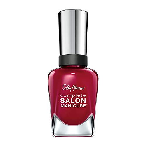 Sally Hansen Complete Salon Manicure Nagellack, Farbe 575, Red-Handed, rot, 1er Pack (1 x 15 ml)