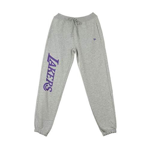A NEW ERA Era NBA Los Angeles Lakers Wordmark - Pantalón Deportivo para Hombre, Color Gris, Multicolor, Extra-Large