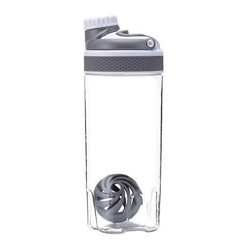 Jusemao Moda Shaking Cup Fitness Botella de agua Proteína Nutrición en polvo Copa Deportes Botella 500ml-700ml Con Polvo Shaking Ball-gray_550ml
