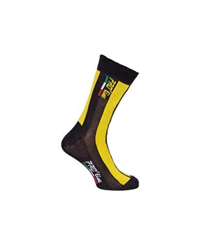 PRO' line Calze Calzini Ciclismo Team Edition Giallo Nero Cycling Socks 1 Paio One Size New Line