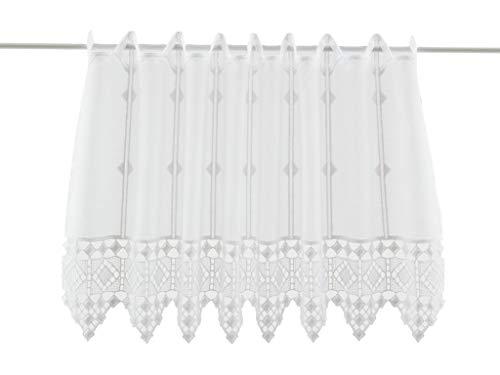 Rideaux brise-bise conclusion crochet 30 cm de haut   Vous pouvez choisir la largeur des rideaux par paliers de 16 cm   Colour: blanc   Rideaux cuisine