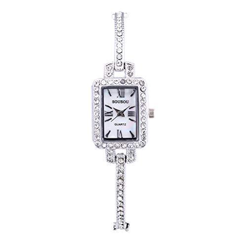 Armbanduhr Damen Uhr Luotuo Mode Analog Quartzuhr Quadratisches Zifferblatt Frauen Wild Geschäft Freizeit Watch Handschmuck
