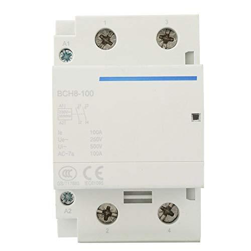 Contactor CA doméstico 2P / 2NO 100A Contactor modular 24 / 230V...