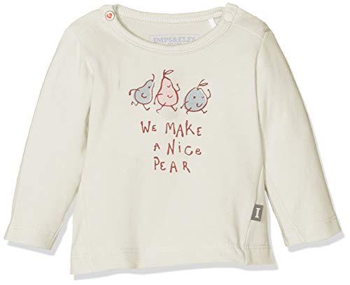 Imps & Elfs Baby-Mädchen G T-Shirt Long Sleeve Langarmshirt, Elfenbein (Antique White P331), (Herstellergröße: 62)