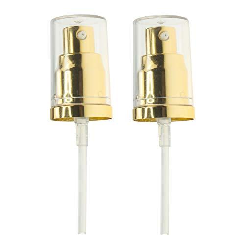 Chris.W 2Pack Foundation Pump for Estee Lauder Double Wear Foundation(Gold) (Estee Lauder Raspberry Perfume)
