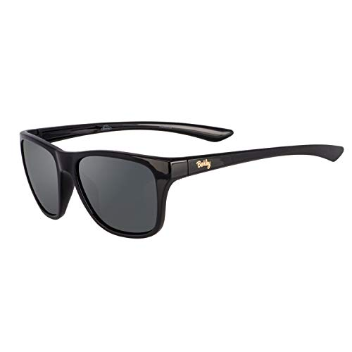 Berkley Ber005 Sunglasses Ber005 Polarized Women's Fishing Sunglasses, Gloss Black/Smoke