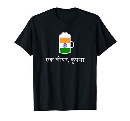 (Ein) Bier bitte in Hindi Indien Bier T-Shirt