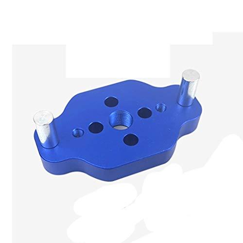 YWSZJ Orificio de bolsillo de carpintería JIG 6/8 / 10mm Guía de perforación de la dotelación vertical egocéntrica la guía de perforación para el punzón del orificio del localizador Herramienta de car