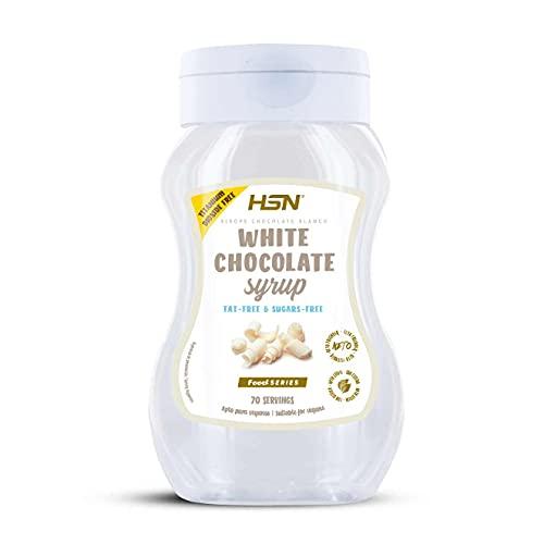 Sirope de Chocolate Blanco de HSN | Sin Grasa, Sin Azúcar | Edulcorado con Estevia | Para endulzar tus Recetas | 350ml