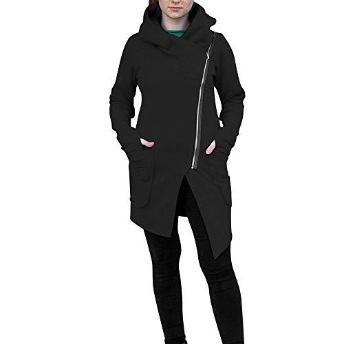 Covermason Femme Hiver zippé Manteau Veste à Capuche Hoodie Sport Sweat Shirt Casual Sweatshirt Jumper Sport Hauts Tops Pullover Blouse Blouson