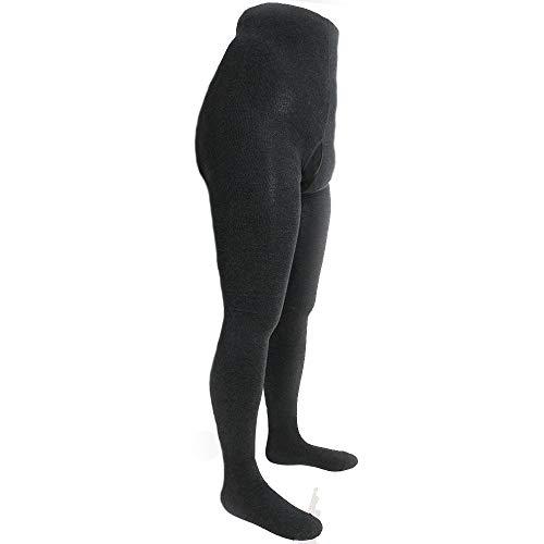 Shimasocks Strumpfhose für Herren mit Eingriff - Baumwollstrumpfhose auch in Übergröße, schwarz anthrazit, blickdicht, Herrenstrumpfhose aus Baumwolle für Winter, Farben alle:anthrazit, Größe:50/52