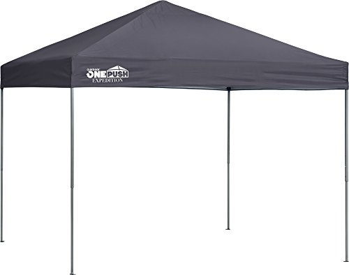 Quik Shade Expedition EX100 One Push 10 x 10 ft. Straight Leg Canopy, Charcoal