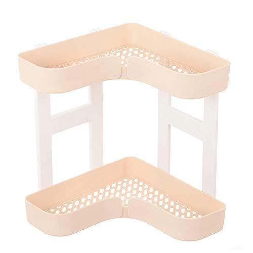 Wandplank, multifunctionele hoek dubbele plank, geschikt voor keuken badkamer wastafel driehoek opslag huidverzorging afwerkingsrek