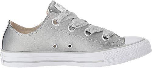 Converse Damen Chuck Taylor CTAS Big Eyelets Ox Sneakers, Mehrfarbig (Metallic Silver/Silver/White 499), 37 EU