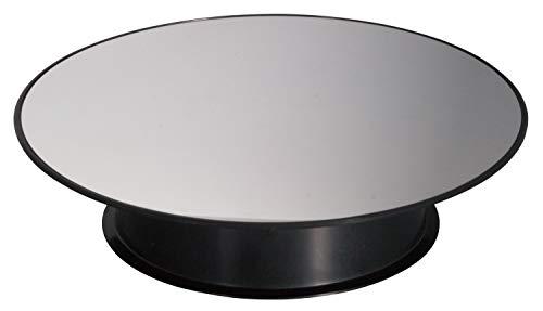 プラッツ バッテリーターンテーブル200 電池式 ブラック 単三電池使用 直径200×全高42mm 最大荷重400g PMM-10bk ディスプレイ用アクセサリ
