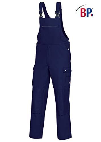 BP 1487-720-10-52 Latzhose, Stretch-Hosenträger mit Clipbefestigungen, 305,00 g/m² Verstärkte Baumwolle, dunkelblau, 52