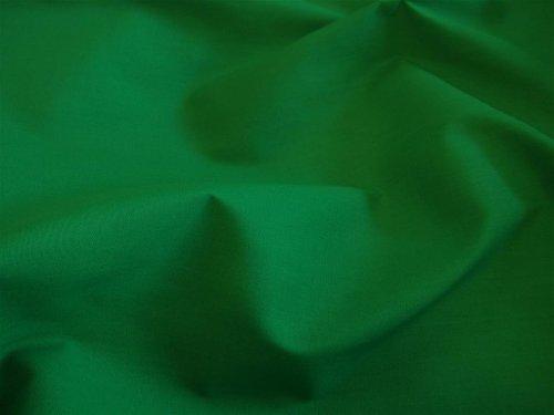 Gala de color verde esmeralda Plain tela de polialgodón (por metro)