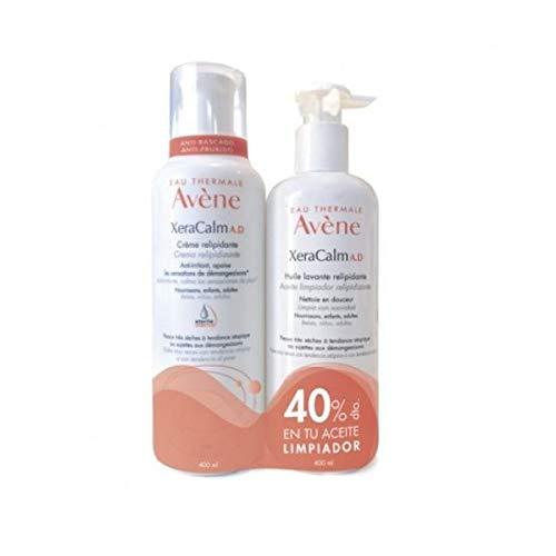 Avene XeraCalm A.D Crema Relipidizante, 400ml+Aceite Llimpiador, 400ml