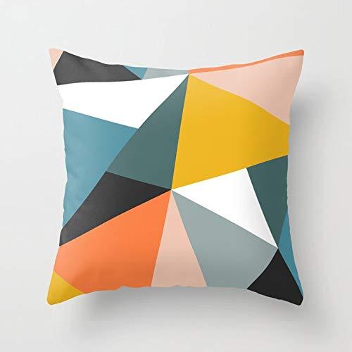 PPMP Funda de Almohada Naranja sofá Funda de cojín geométrica de Mediados de Siglo, Utilizada para la decoración del sofá del hogar Funda de Almohada Funda de cojín A7 45x45cm 2pc