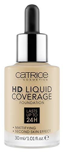 Catrice HD Liquid Coverage Foundation 036 Hazelnut Beige - 1er Pack