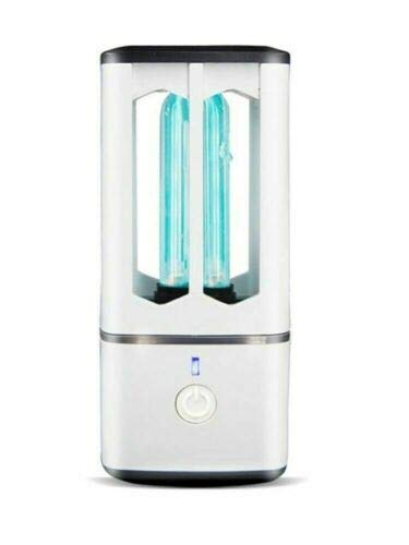 LITCHI UV Keimtötende Lampe, Tragbare Sterilisationslampe mit Ultraviolett + Ozon zur Sterilisation, Desinfektion und Luftreinigung, wiederaufladbare USB-Lampe für Küchen, Schränke, Autos, Reisen
