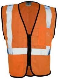 ML Kishigo 1538 Double Pocket Mesh Vest - Orange Large (6 Units)