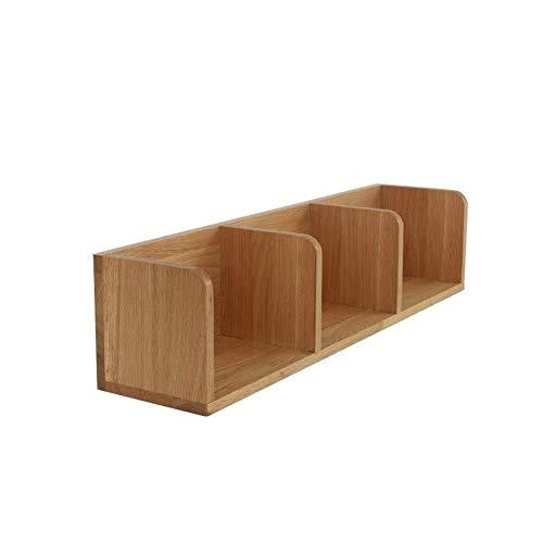 JXXDQ Estante flotante para pared para colgar en la pared, para sala de estar, pared, celosía, partición de madera maciza, estante de varias capas (tamaño: 690 mm)