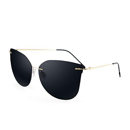 XYJNN Blue Light Glasses |Gafas de Sol| Diseño Original del Controlador Hombres y Las Mujeres elásticos Gafas de Sol polarizadas Tide Lentes sin Marco Gafas de Sol Suave Manera HD (sin Grado)