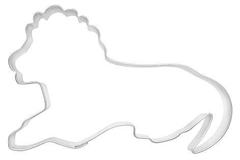 Ausstechform Löwe, 9cm, Weissblech