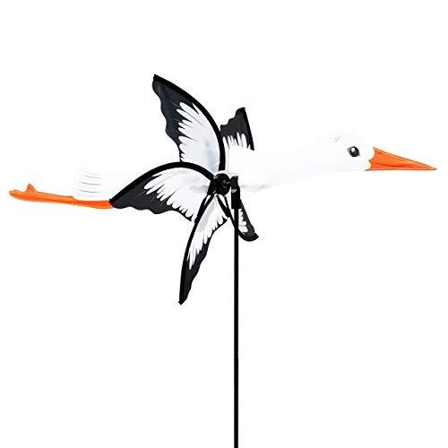 CIM Windspiel - Petite 2in1 Storch - Windrad Ø31x50x90cm - Windmühle mit Standstab oder Mobile mit Hängeset