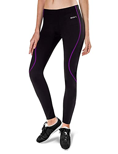 BALEAF Women's Thermal Fleece Running Cycling Tights Athletic Compression Trousers for Hiking/Bike