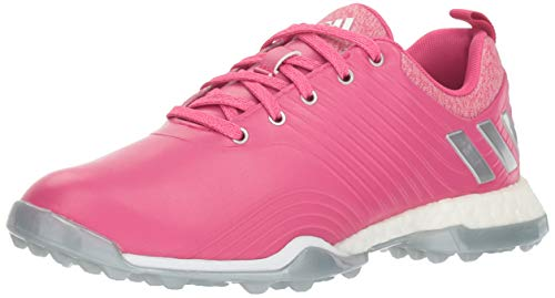 adidas Women's Adipower 4ORGED Golf Shoe, Real Magenta/Silver Metallic/FTWR White, 9 M US