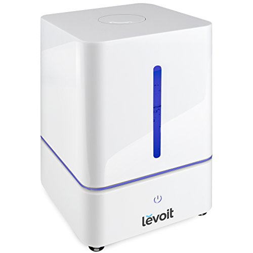 LEVOIT Humidifier, 4L Cool Mist Ultrasonic Humidifiers for Bedroom with Whisper-Quiet Operation, Filterless Vaporizer for Home, Room, Babies, Waterless Auto Shut-off