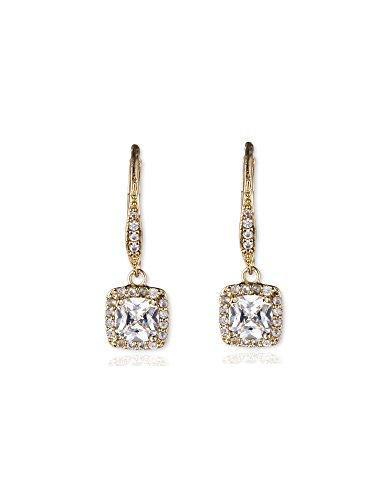Anne Klein Flawless Cubic Zirconia Lever-Back Drop Earrings
