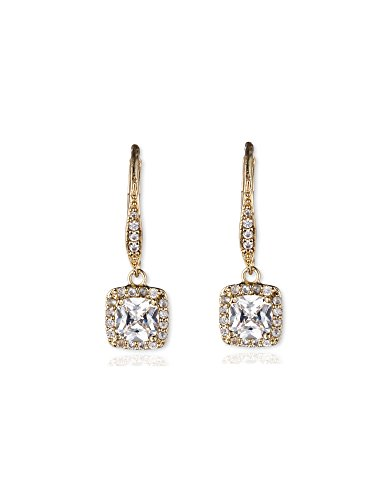 Anne Klein quotFlawlessquot GoldTone and Cubic Zirconia Leverback Drop Earrings