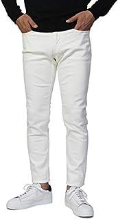 ヤヌーク YANUK VINCENT II Slim Tapered コットン ストレッチ ホワイト デニム パンツ 57203011